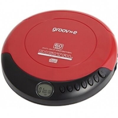 Retro Series Personal CD Player - Red Brand New