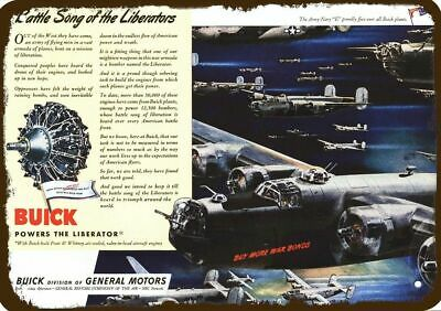 1944 BUICK Vintage Appearance Replica Metal Sign - LIBERATOR BOMBER AIRPLANE