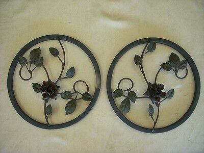 Vintage Antique Style Metal Wall Hangings Garden Decor Art Salvage Rustic