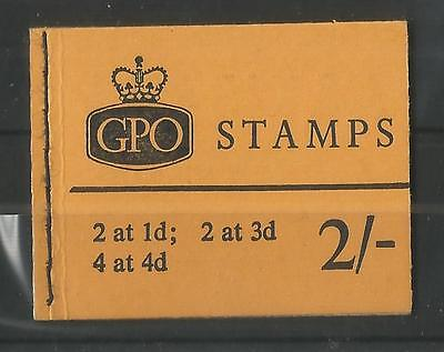 GB 1967 JULY 2/- STITCHED BOOKLET SG,N29p LOT GB113