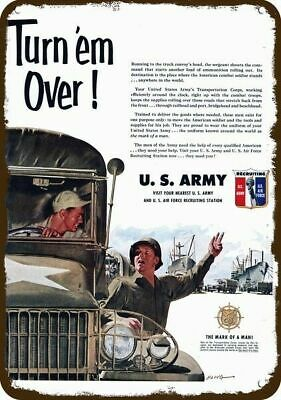 1951 U.S. ARMY Recruitment Vintage Appearance Replica Metal Sign - TRUCK CONVOY