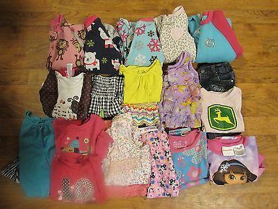 Girls size 24month 2T clothing Lot of 25 pieces pre owned