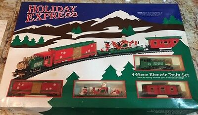 Model Power Holiday Express Train Set Nice Condition