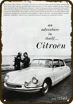 1960 CITROEN Car Vintage Appearance Replica Metal Sign - SCUBA DIVERS DIVING