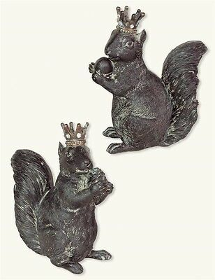 Victorian Trading Co King Queen Squirrels with Crowns Free Ship NIB