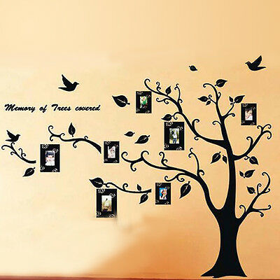 Photo Frame Tree Removable DIY Vinyl House Family Wall Decor Stickers Decal New