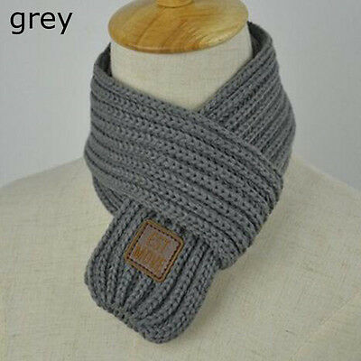 Fashion Kids Children Knitting Wool Scarf Collar Winter Warm Neckerchief Bib