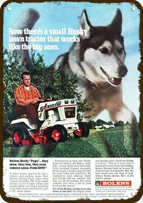 1971 BOLENS HUSKY Vintage Look Replica Metal Sign ALASKAN MALAMUTE DOG & MOWER