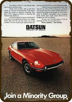 1971 DATSUN 240-Z Sports Car Vintage Look Replica Metal Sign  JOIN THE MINORITY