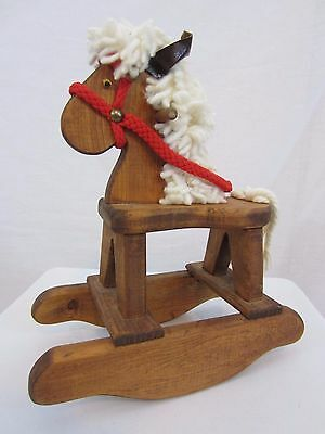 Decorative Wooden Rocking Horse for dolls or bears or display - Handmade