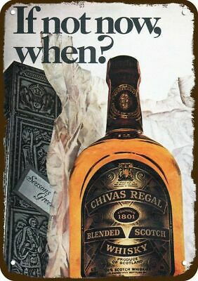 1974 CHIVAS REGAL Whisky Vintage Appearance Replica Metal Sign CHRISTMAS GIFT