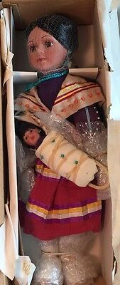 """Heritage Signature Collection  17"""" Indian Enola Porcelain Doll New In Box"""