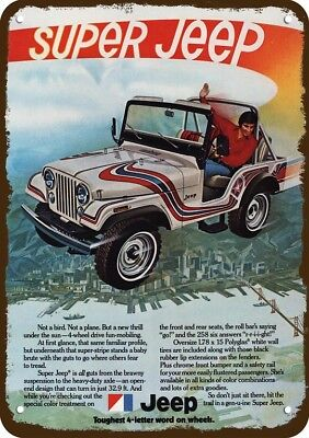 1973 SUPER JEEP 4X4 Vintage Look Replica Metal Sign - NOT A BIRD OR PLANE