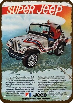 1974 SUPER JEEP 4X4 Vintage Look Replica Metal Sign - NOT A BIRD OR PLANE