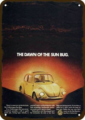 1974 VOLKSWAGEN BEETLE SUN BUG Car Vintage Apearance Replica Metal Sign SUNROOF