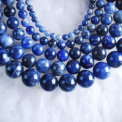 VD2880-2884 Wholesale Sodalite Ball Loose Beads 4mm 6mm 8mm 10mm 12mm Pick
