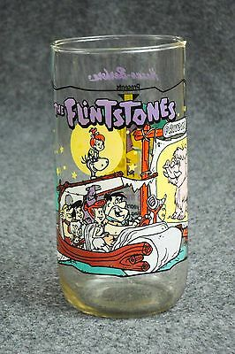 "Flintstones Collectible Glass ""Going to the Drive-In"" Hardee's 1991"