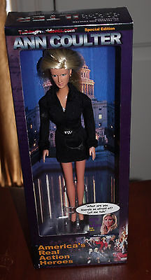 """2003 ANN COULTER Doll 14 phrases Real Action Hero 12"""" Talking Presidents - NIB"""
