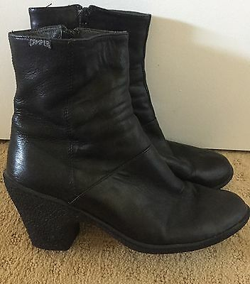 Camper Classic Black Ankle Boots Size 38