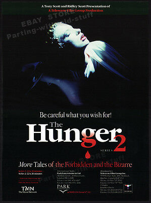 THE HUNGER__Original 1998 Trade AD / TV Series promo__RIDLEY SCOTT__David Bowie