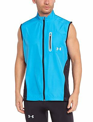 NWT $90 Men's Under Armour ArmourVent Run Running Vest Fitted Blue 1246106 - 2XL
