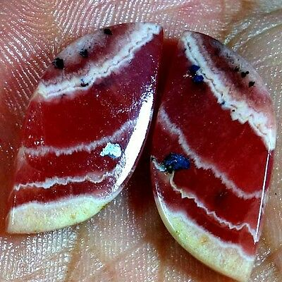 31.80Cts. Natural Designer Rhodochrosite Fancy Cab Matched Pair Loose Gemstones