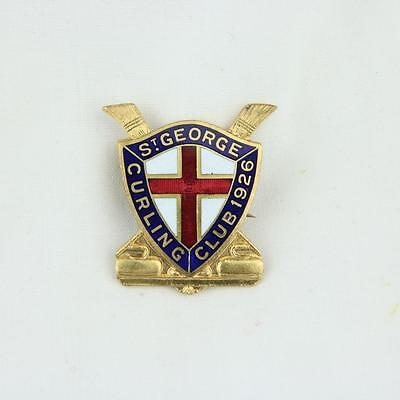 VTG St. George Curling Club Pin 1926 Scully LTD Montreal Red Cross