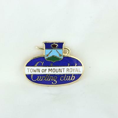 VTG Town of Mount Royal Curling Club Pin Canada Founded 1952