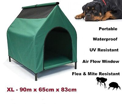 Dog Kennel XL Elevated Pet House Waterproof Flea Mite Resistant Portable Bed