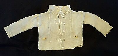 Vintage Antique Baby sweater Infant boy/girl with little Yellow ducks