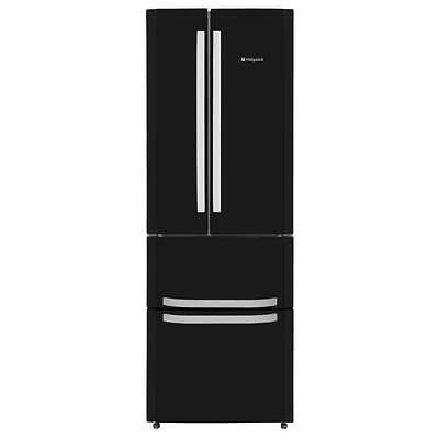 Hotpoint FFU4DK A Rated Frost Free Fridge Freezer American Style in Black