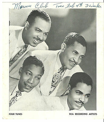 "Four Tunes Original 8"" X7"" 1950's RCA Victor Promotional  Photograph"
