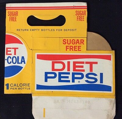 VINTAGE DIET PEPSI CARDBOARD CARRIER HOLDER -  VERY RARE - collectable
