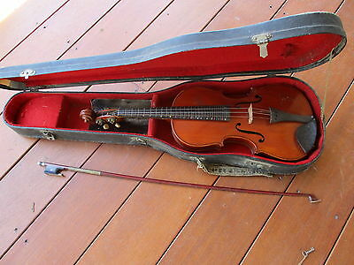 Violin - 1920s by Manby with bow and case