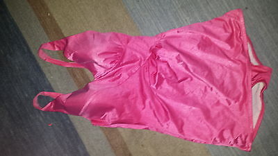 Vintage Bathing Suit ROSE MARIE REID pink pin up size 8 - 10