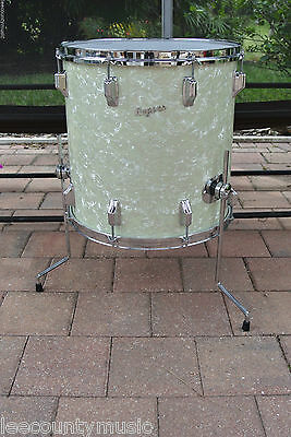 "60's Rogers 16"" WMP WHITE MARINE PEARL HOLIDAY FLOOR TOM for YOUR DRUM SET #T160"
