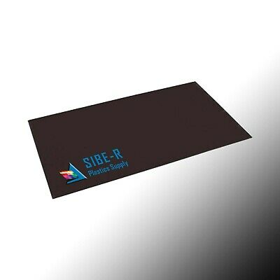".020"" THICK BLACK POLYSTYRENE PLASTIC SHEET 6"" x 12"""