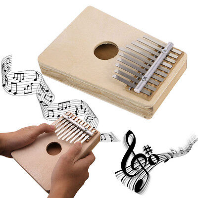 10 Keys Wood Thumb Piano Traditional Simple Musical Instrument Accompaniment