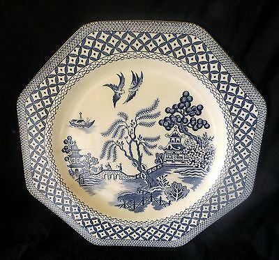"""J & G Meakin Dinner Plate """" Willow """". Size 26 cm."""