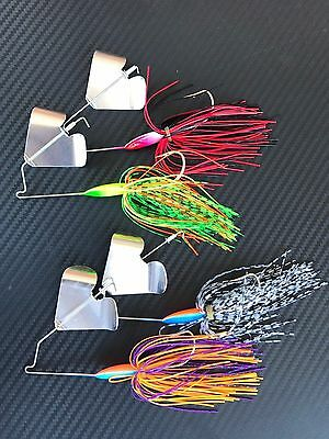 4x 1/2oz Buzzbaits Spinnerbaits Fishing Lures Cod Bass Spinners Baits Buzz Bait