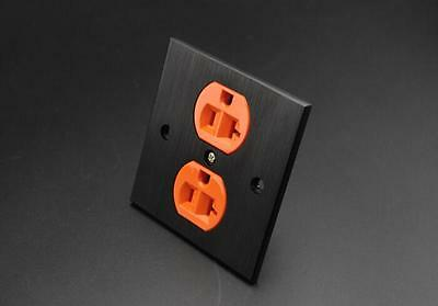 New US AC Receptacles wall outlet audio grade copper made socket Duplex Plate