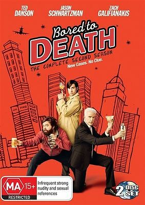 Bored To Death : Season 2 [ 2 DVD Set ] LIKE NEW, Region 4, FREE Next Day Post