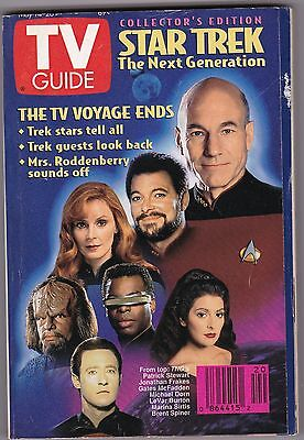 1994 Star Trek  Tv Guide Tv Voyage Ends  Never Been Used