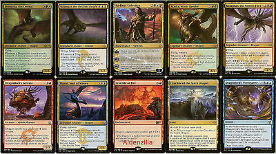 MTG Five Color Dragon Deck - Sarkhan Atarka Silumgar Kolaghan - Magic Gathering