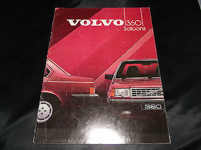 1984 Volvo 360 Gle / Injection Marketing Literature, Brochure, Sales Catalogue