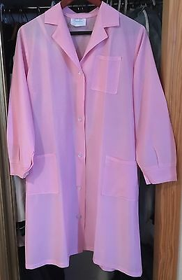 LADIES Vintage Pink Check Overall Housework Hairdresser SIZE WMS