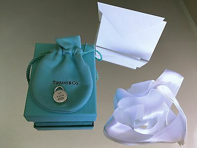 NEW Tiffany & Co. Round Lock Charm with Box, Bow, and Card