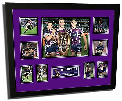 Melbourne Storm Cronk, Slater & Smith Signed Limited Edition Framed Memorabilia