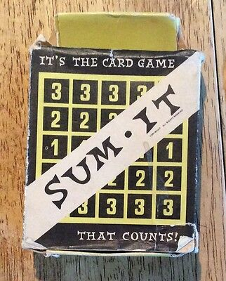 Vintage - Sum It - Its the card game that counts (1960's)