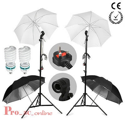 1250w Lamp Bulb Photo Studio White Soft Reflective Umbrella Continuous Light Kit